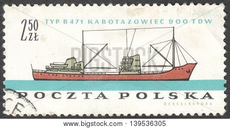 MOSCOW RUSSIA - CIRCA JANUARY 2016: a post stamp printed in POLAND shows a coaster