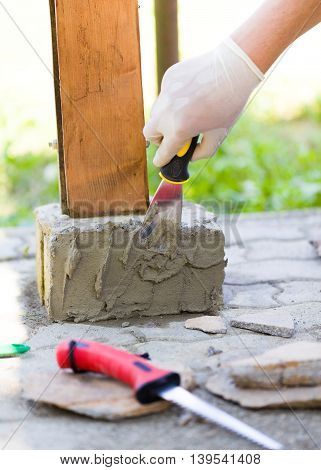With Glue Will Fix Stones Well