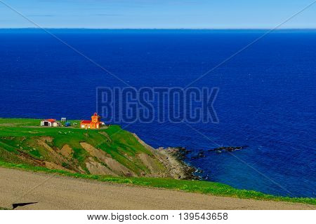 Secluded Lighthouse, In Northern Iceland