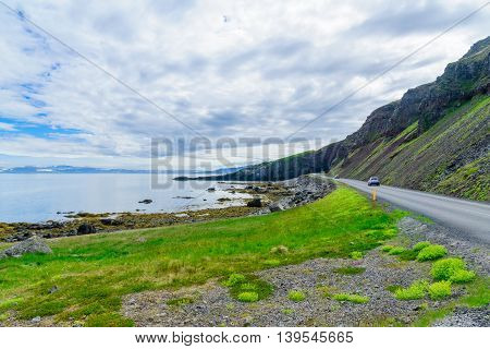Landscape And Coastline, In The West Fjords Region