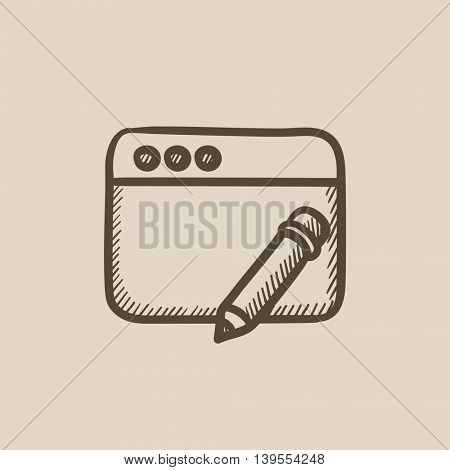 Digital art vector sketch icon isolated on background. Hand drawn Digital art icon. Digital art sketch icon for infographic, website or app.