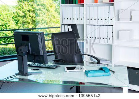 Empty Desk During The Break
