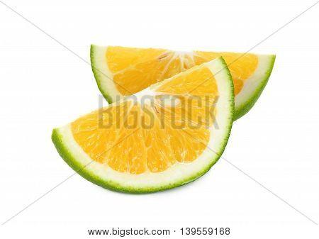 Slice Citrus Sinensis Isolated