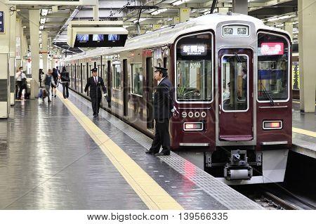 Train Station In Osaka