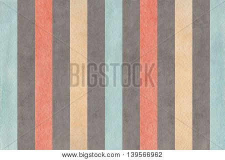 Watercolor Gray, Pink, Beige And Blue Striped Background.