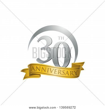 30th anniversary gold logo template. Creative design. Business success