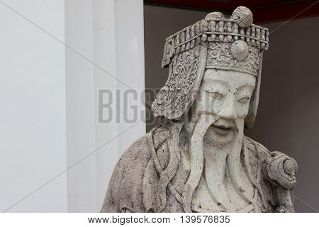 Close-ups Statue The Face Chinese Ship Ballast (stone Doll)