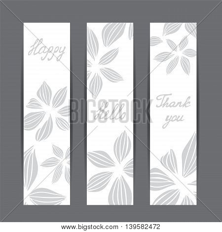 stock vector template for brochure card cover book invitation with abstract flowers.