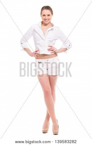 Cheerful Young Blond Woman