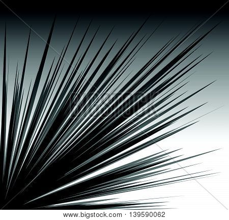 Radial Lines Explosion, Burst Element W/ Transparency. Irregular, Asymmetric Radiating Lines.