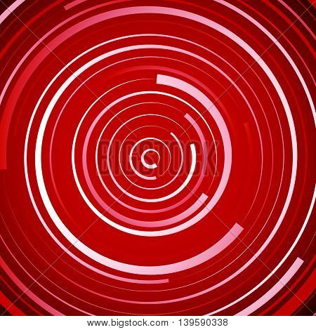 Colored Spiral Pattern. Concentric Circles With Irregular, Dynamic Lines.