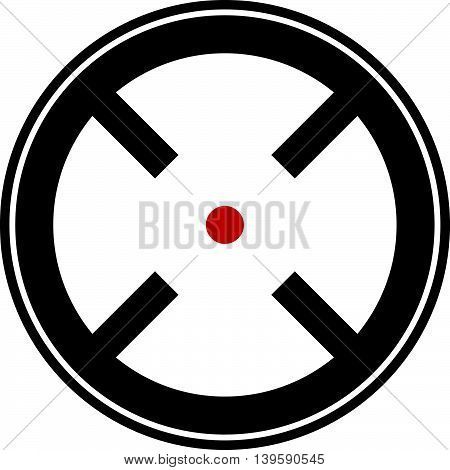 Target mark reticle crosshair icon for focus accuracy targeting concepts. poster