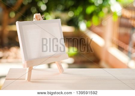 Small Easel With A Blank Canvas