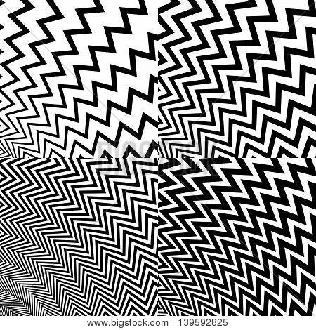 Irregular, Wavy (zigzag) Diagonal Lines. Set Of 4 Patterns, With 4 Density.