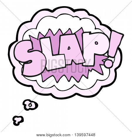 freehand drawn thought bubble cartoon slap symbol