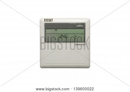 An Airconditioning Unit Isolated Against A White Background