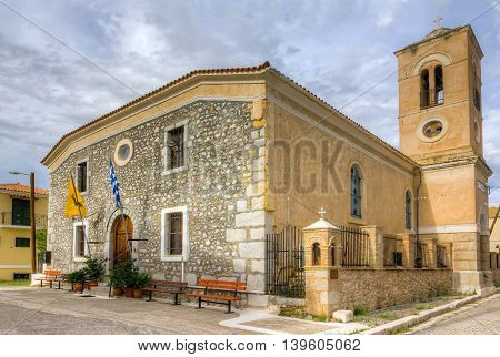 Ag. Paraskevi church, 16th century A.D., Galaxidi, Greece