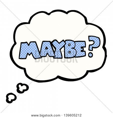 maybe freehand drawn thought bubble cartoon symbol