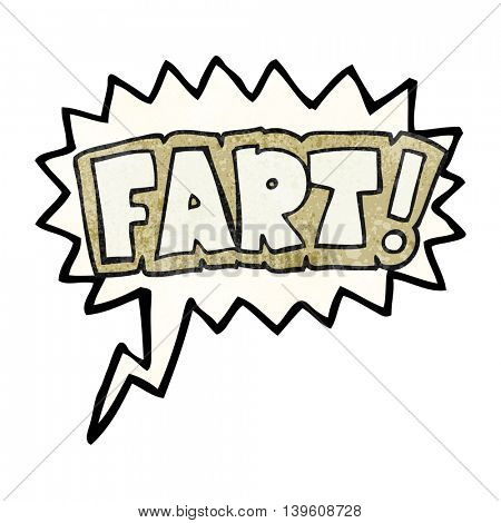 freehand speech bubble textured cartoon fart symbol