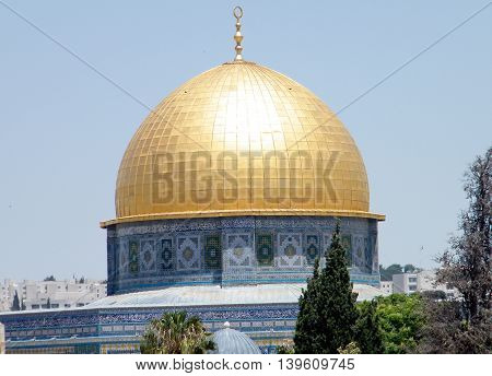 Dome of Rock Mosque in Old JerusalemIsrael