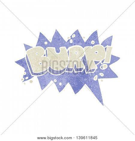 freehand retro cartoon burp symbol