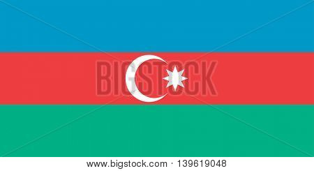 Vector Republic of Azerbaijan flag