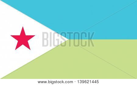 Vector Republic of Djibouti flag