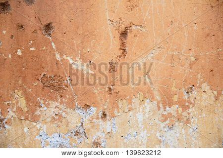 Rust Stains On The Grunge Concrete Wall