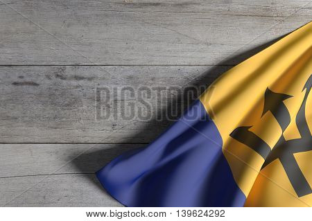 Barbados Flag Waving