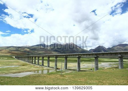 Sky road-Qinghai-Tibet Railway the highest railway in the world