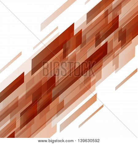 Abstract orange rectangles technology background, stock vector