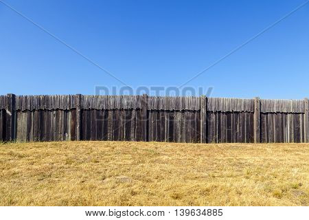 Fort Ross State Historic Park under blue sky