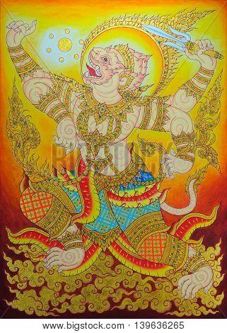 Hanuman is The lord of the monkeys.