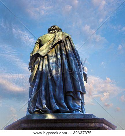 Statue Of Schiller In Frankfurt