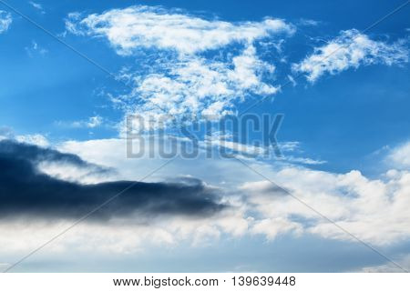 Turbulent Perspectives - Dramatic Clouds Sky Dark Clouds And Bright Blue