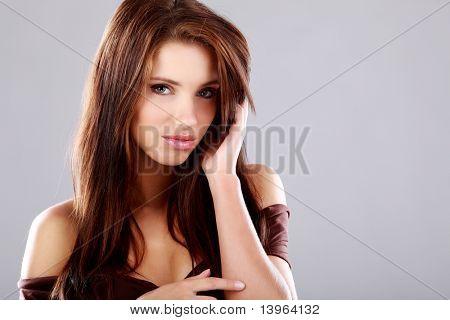 Close-up portrait of beauttiful woman