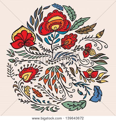 stock vector ornate texture pattern with flowers. ethnic design background.