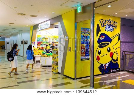 Asian Girls Walking Pokemon Store Narita Airport