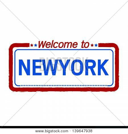 Welcome to NEWYORK of US State illustration design