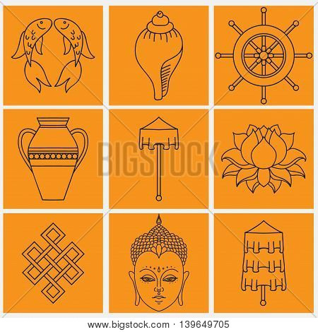 Buddhist Symbolism 8 Vector Photo Free Trial Bigstock