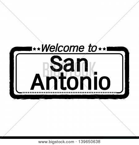 Welcome to San Antonio City illustration design