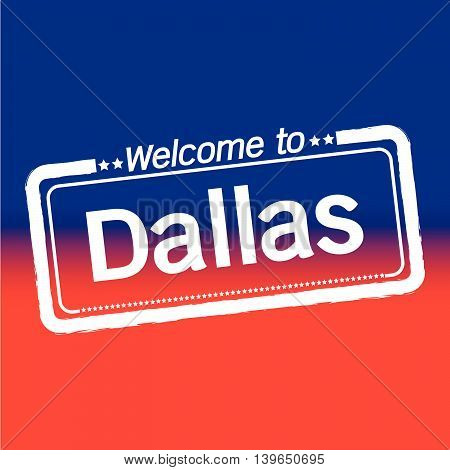 an images of Welcome to Dallas City illustration design