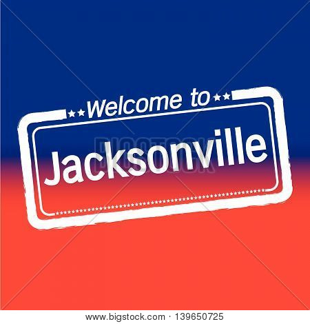 an images of Welcome to Jacksonville City illustration design