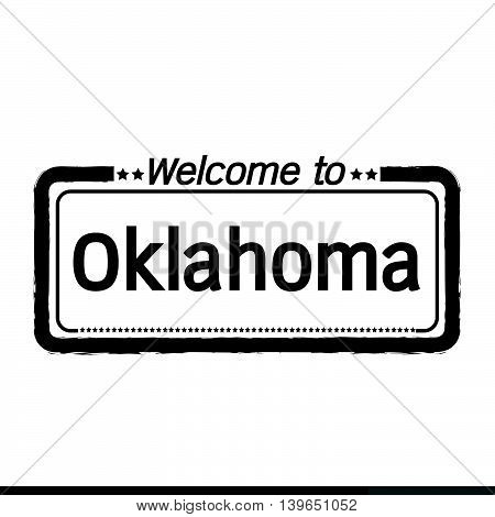 an images of Welcome to Oklahoma City illustration design