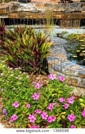 Landscaped Garden With Wataerfall
