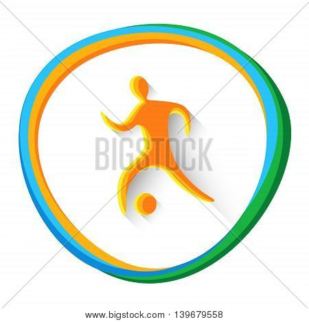 Football Player Sport Game Logo Competition Icon Vector Illustration
