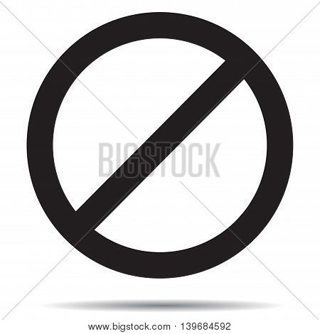 Ban symbol template. Black ban mark prohibition label and forbidden vector illustration
