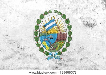 Flag Of Rosario, Santa Fe, Argentina, With A Vintage And Old Loo
