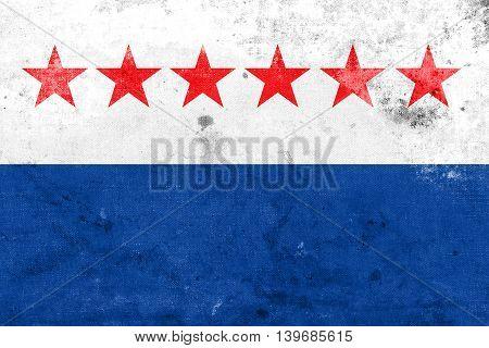 Flag Of Sao Joao Da Barra, Rio De Janeiro State, Brazil, With A