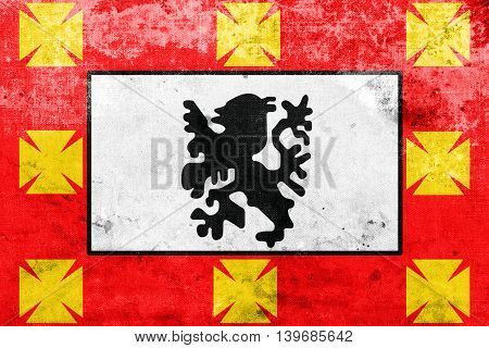 Flag Of Sao Vicente, Sao Paulo, Brazil, With A Vintage And Old L